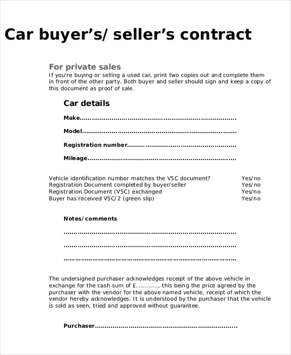Purchase Agreement Sample  Free Samples Examples Format Download
