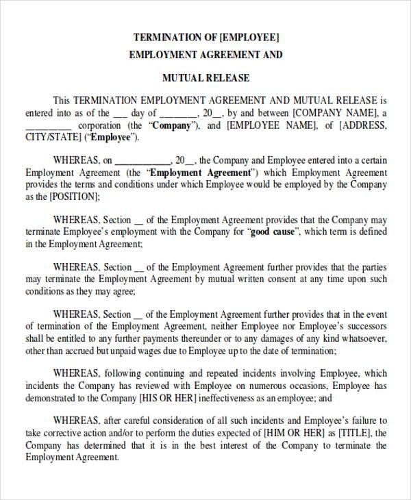 employment termination agreement