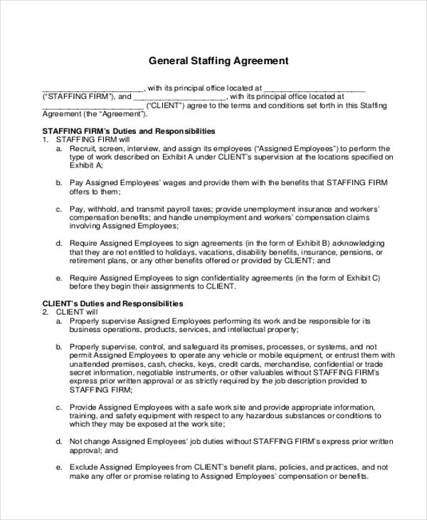 9 Sample Company Contract Agreements Word Pdf
