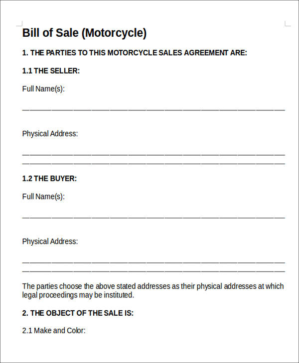 11  vehicle sales agreement samples