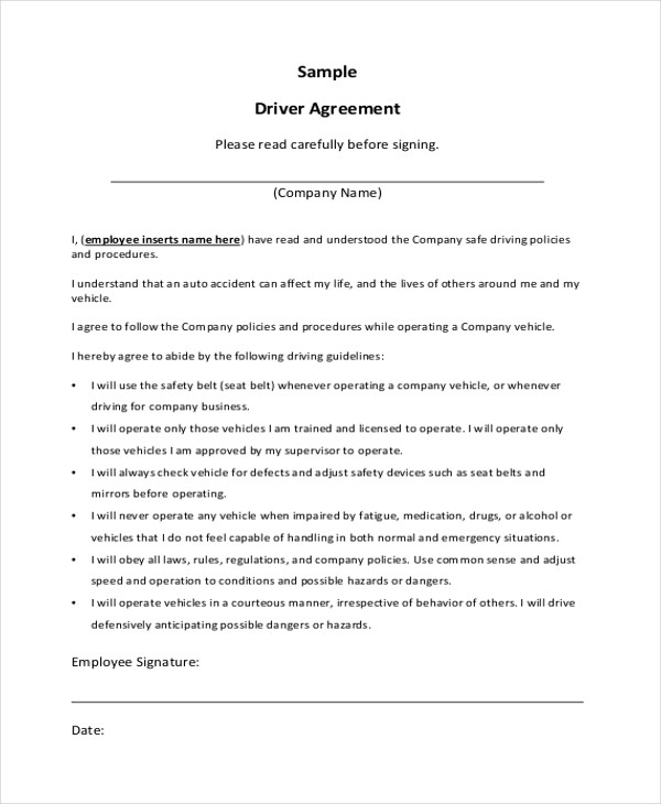 Sample Company Contract Agreements   Examples In Word Pdf