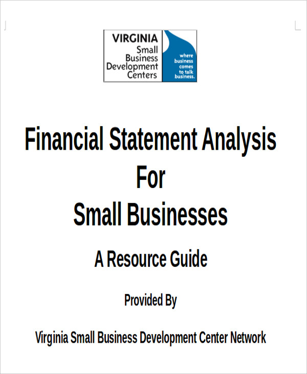 Financial Analysis Sample  Free Sample Example Format Download