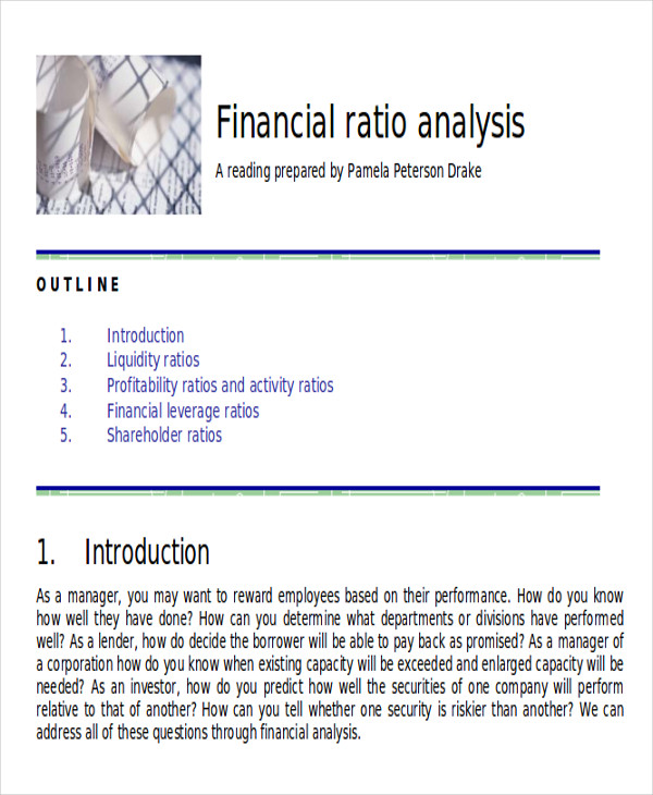analysis investor ratio Financial ratios are an important element of financial statement analysis and can  be a  finances and operations say about its attractiveness as an investment.