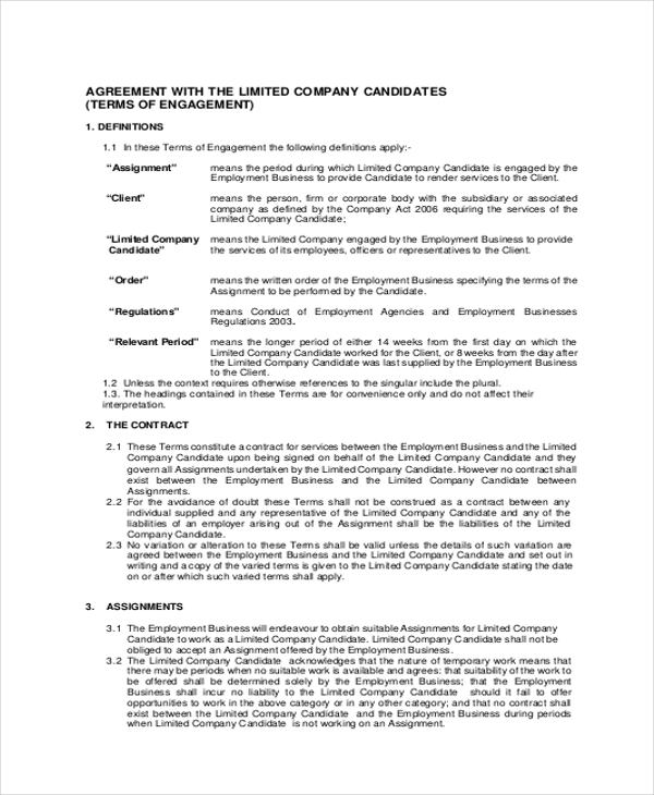 limited company contract agreement pdf