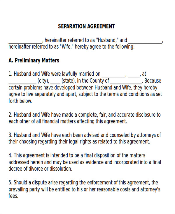 financial agreement divorce images agreement letter format. Black Bedroom Furniture Sets. Home Design Ideas