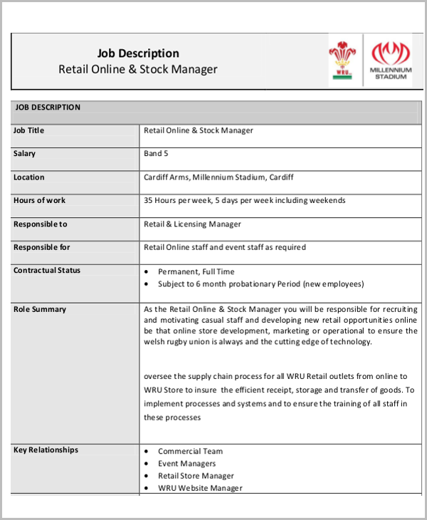 Stock Ociate Job Description | Retail Stock Associate Great Retail Stock Clerk Resume Stock Clerk