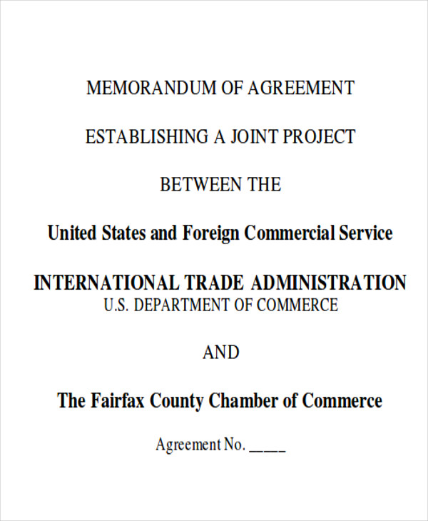 10 Sample Memorandum of Agreement Free Sample Example Format – Sample Memorandum of Agreement