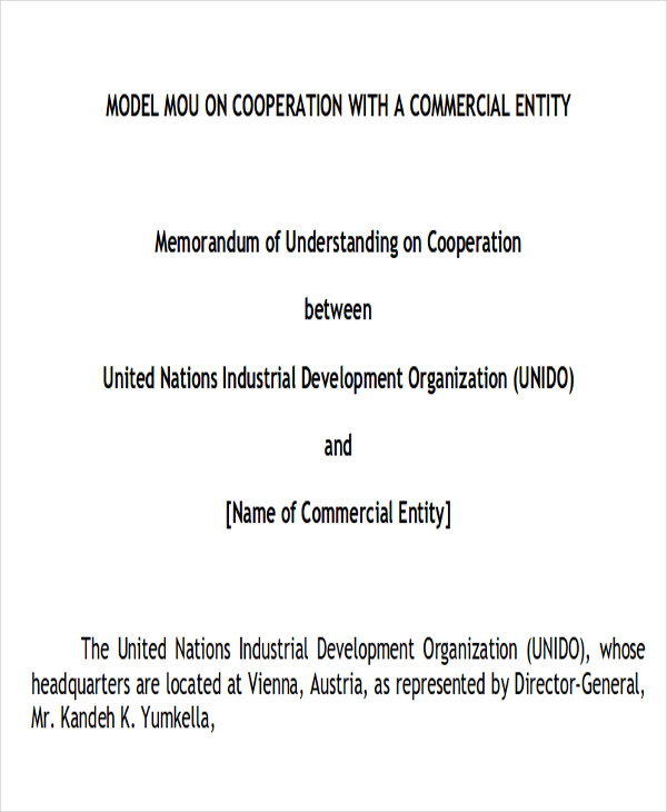 memorandum of cooperation agreement