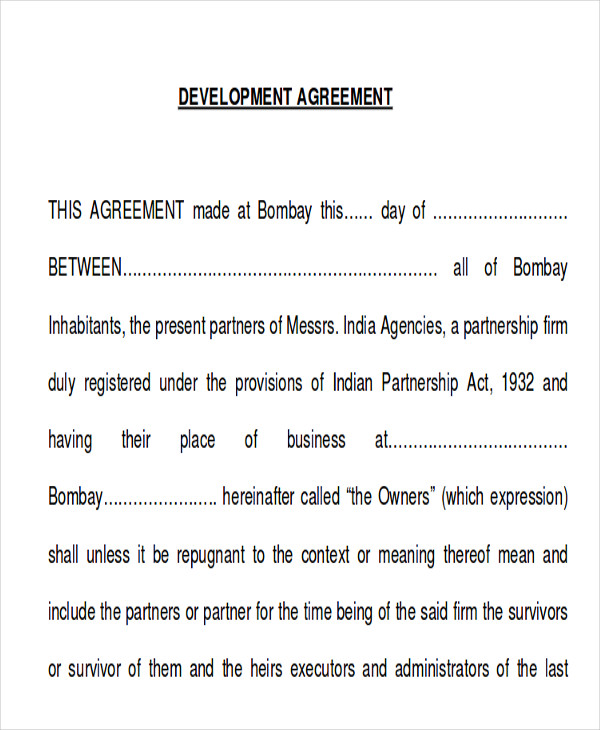 memorandum of development agreement