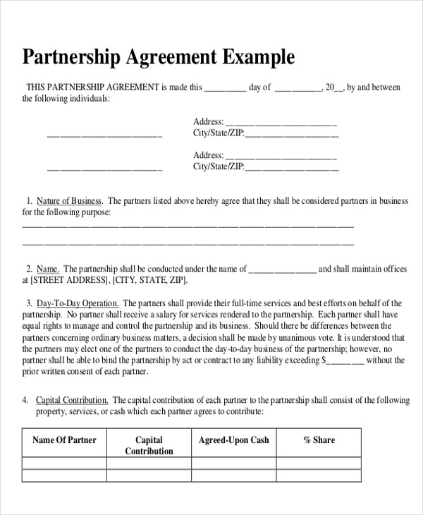 non compete partnership agreement