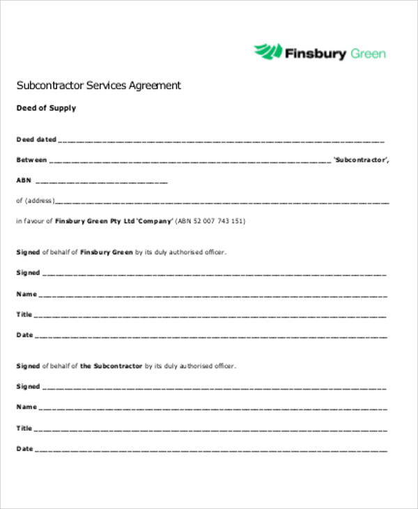 Sample Contract Service Agreement - 9+ Examples in Word, PDF