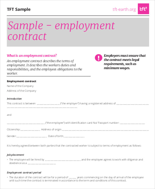 Sample Service Agreement Contract - 8+ Examples In Word