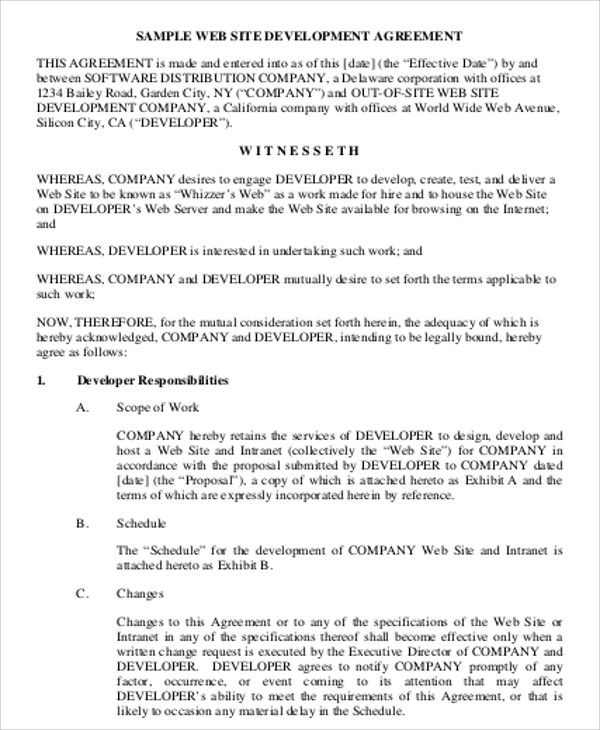 Simple Contract Agreement 9 Examples in Word PDF – Simple Contract for Services