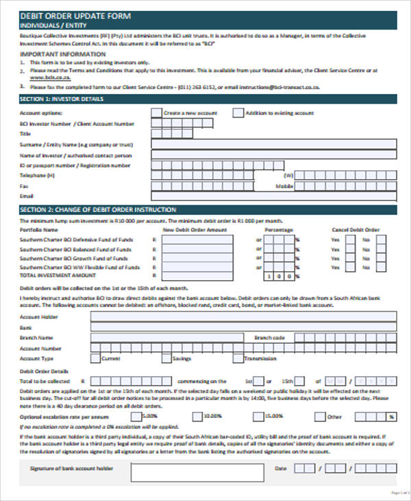 Consent Order Form. Consent Variation Order 28+ Order Forms In Pdf