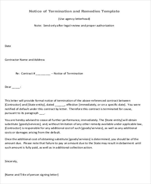 Sample Contract Agreement Letter - 9+ Examples In Word, Pdf