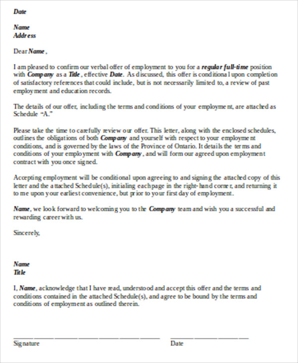 sample contract work agreement letter