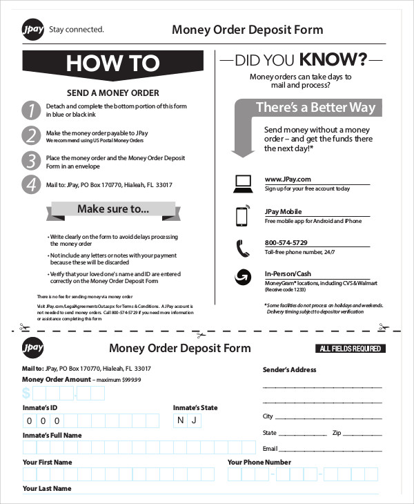 Sample Postal Order Form - 9+ Examples in Word, PDF
