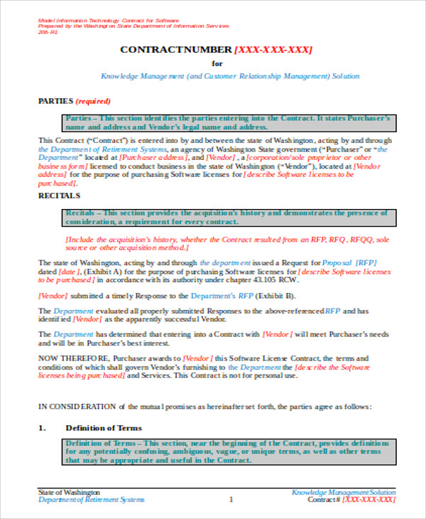 Sample Vendor Contract Agreement 8 Examples in Word PDF – Vendor Contract Agreement