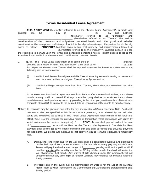 Sample Property Contract Agreement   Examples In Word Pdf