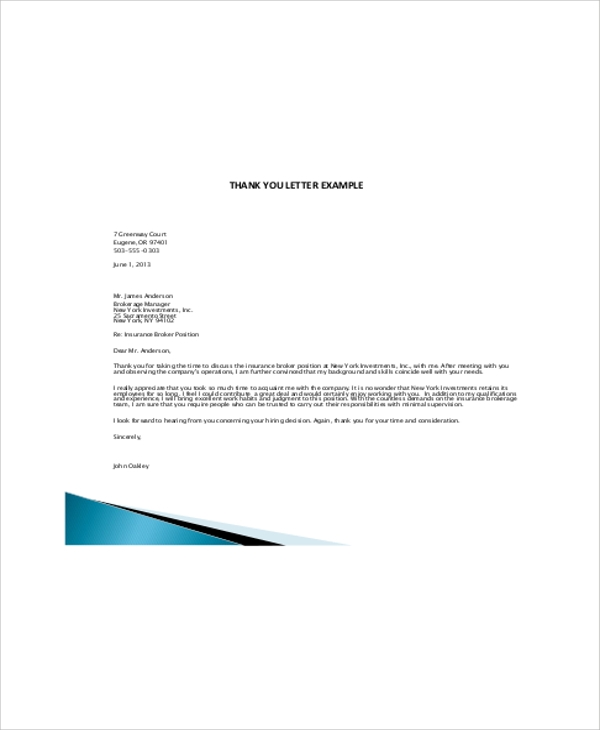 medical assistant thank you letter for interview