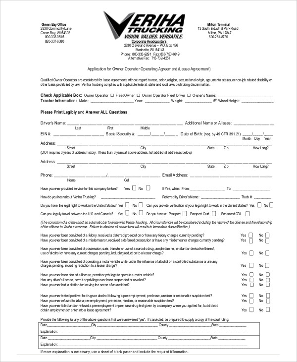 Lease Agreement Contract Sample - 9+ Examples In Word, Pdf