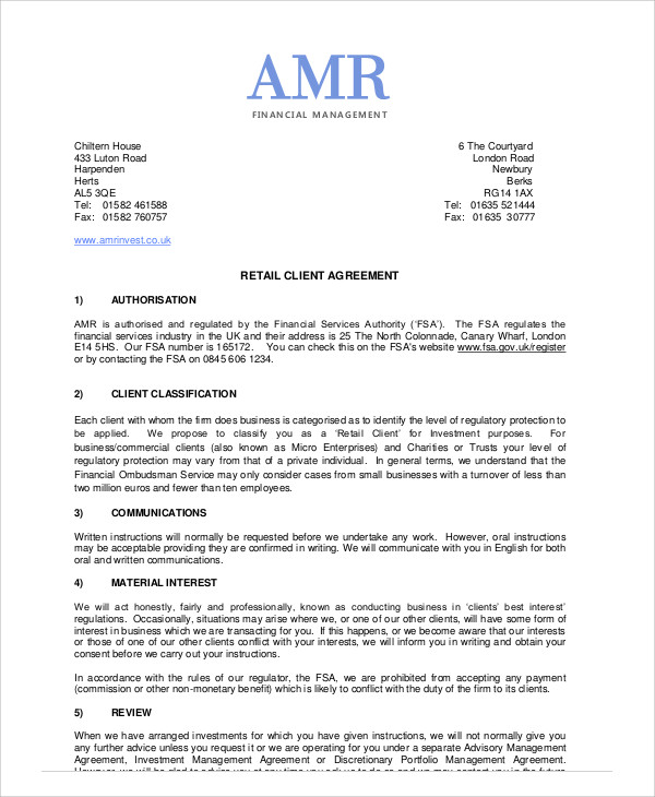 8 Sample Business Management Agreements Sample Templates