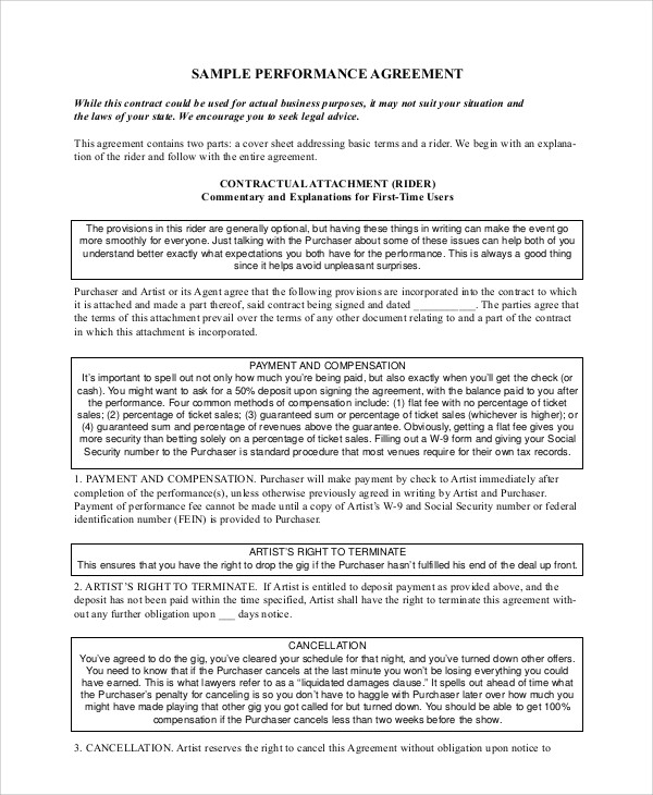 Sample Work Contract Agreement   Examples In Word Pdf