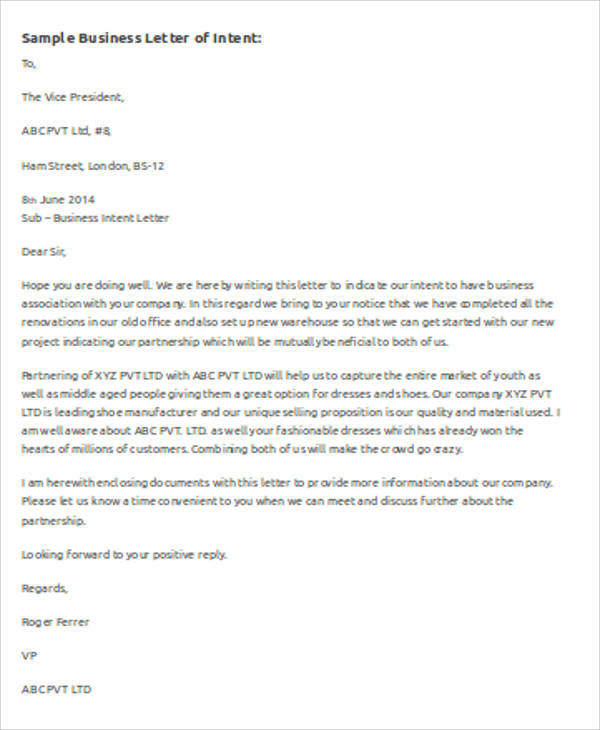 FREE 7+ Sample Business Letter Template MS Word In MS Word