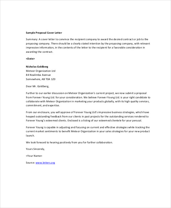 company business proposal letter