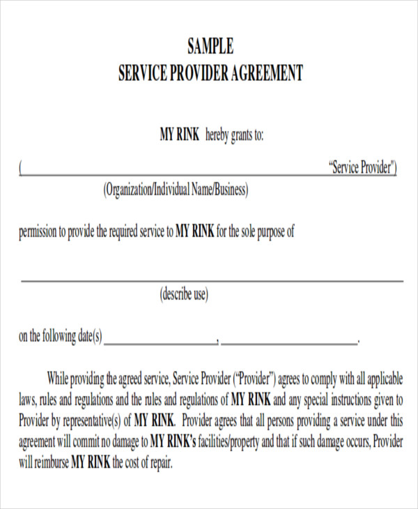 Cleaning services contract template excellent cleaning for Service provider agreement template free