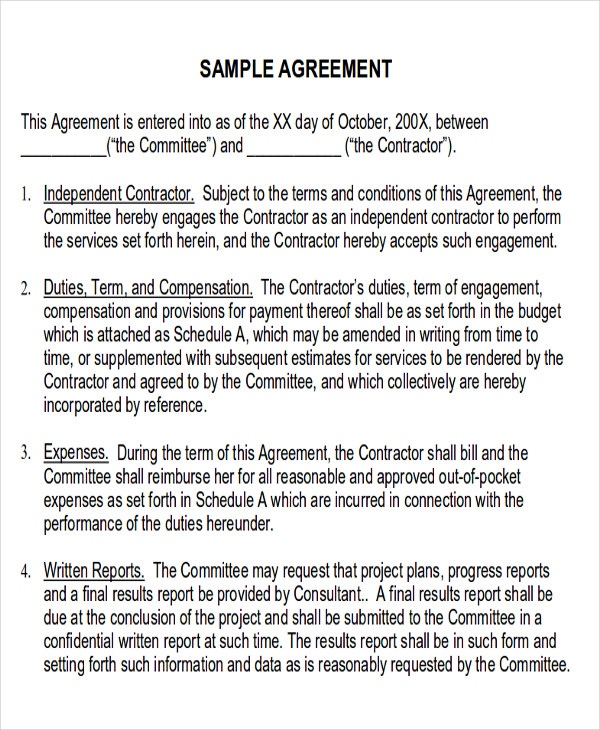 Service Contract Sample In Pdf 10 Examples In Pdf