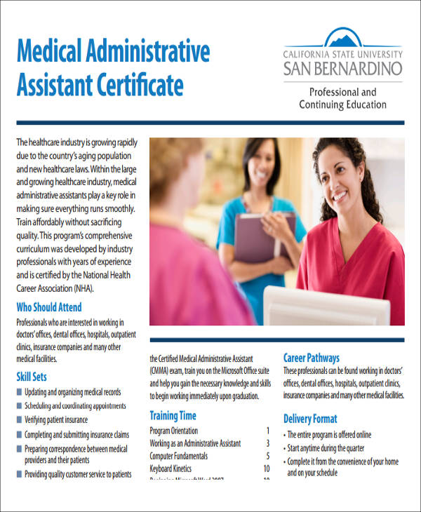 5 Sample Medical Assistant Certificates Sample Templates