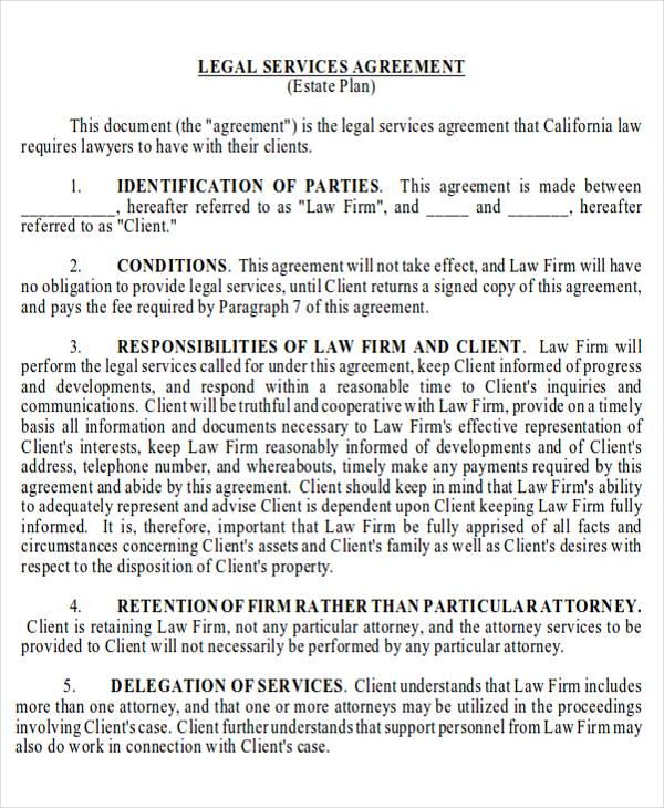 Legal Agreement Contract | Legal Agreement Contract Sample 8 Examples In Word Pdf