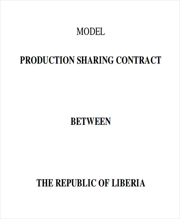 production sharing contract agreement