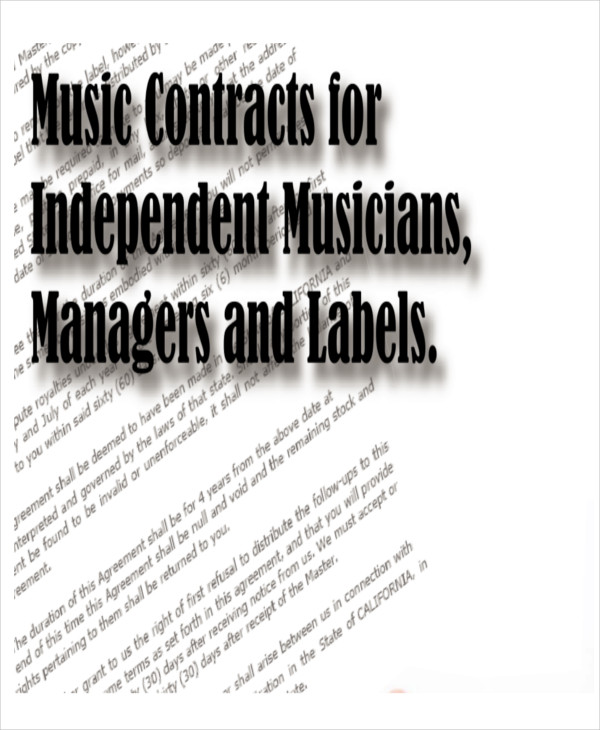 music production contract template - sample production contract agreements 9 examples in