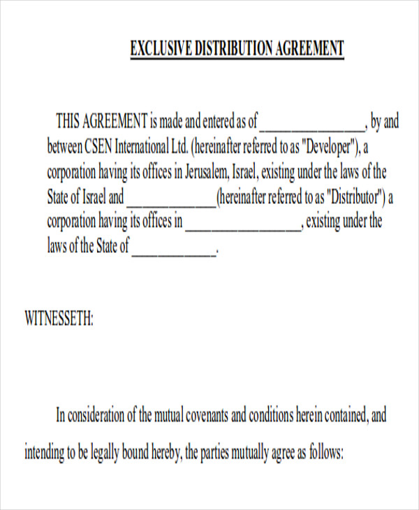 exclusive supply agreement contract pdf