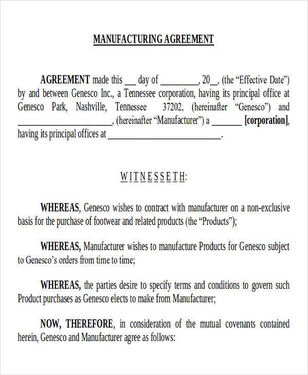 Supply Agreement Contract Sample   Examples In Word Pdf