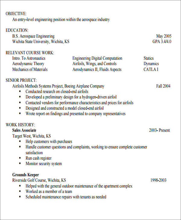 Generic Resume Objective 5 Examples In Word Pdf