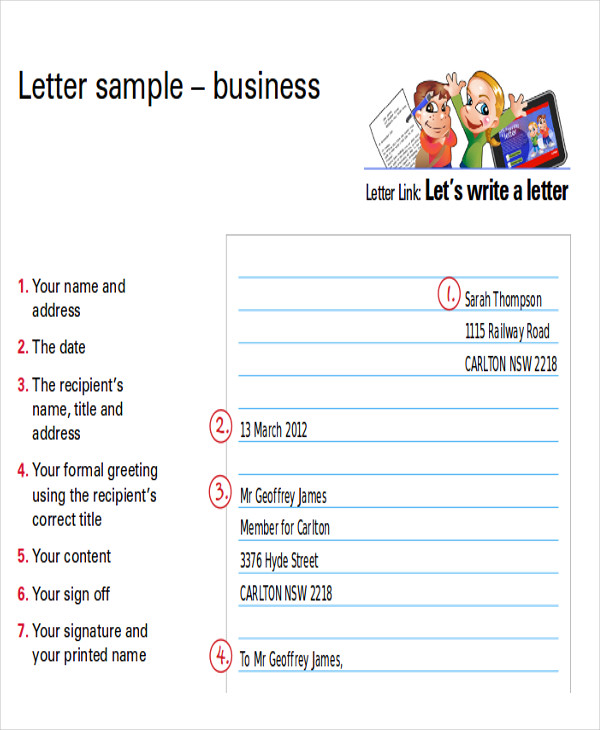 sample letter to new business in pdf