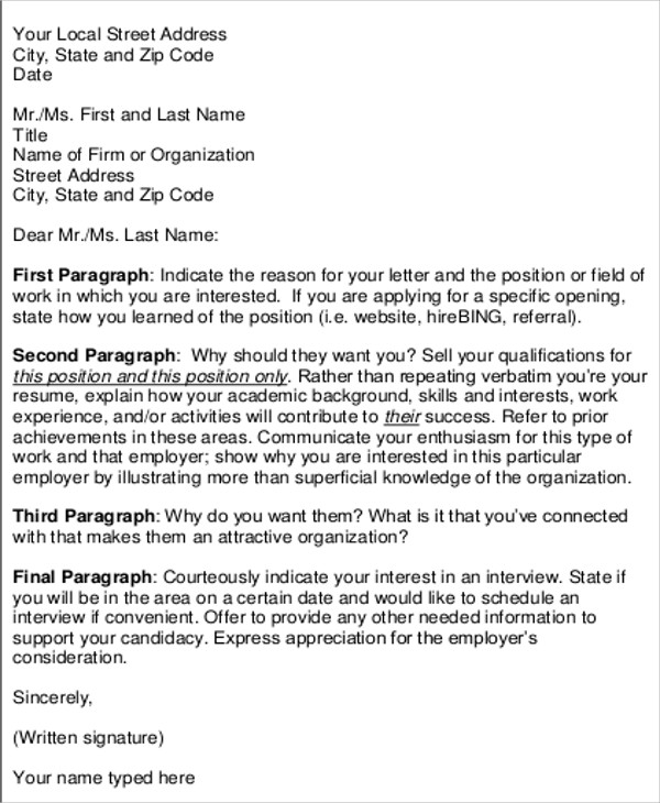 Sample Formal Interview Letter 9 Examples In Word Pdf