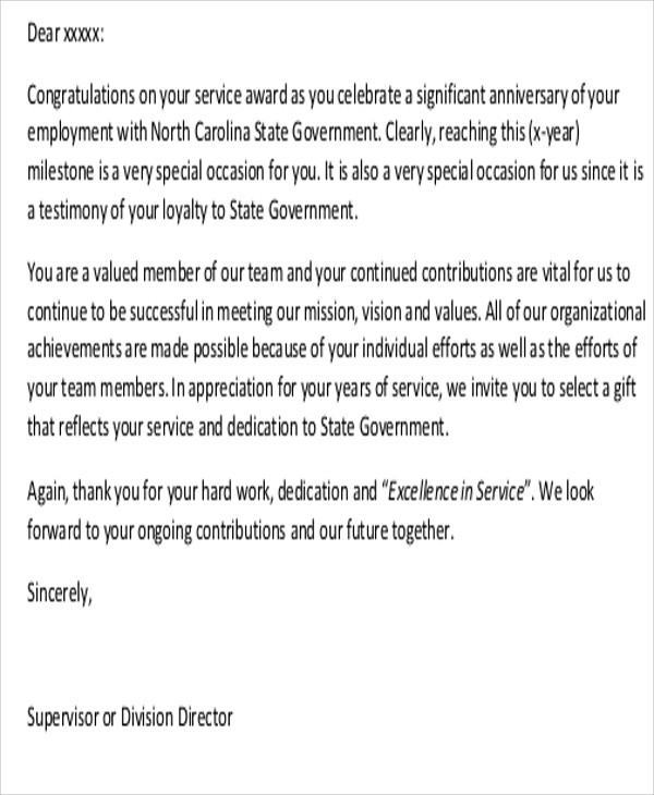 7 sample thank you letter to employees sample templates sample thank you letter to employees for hard work expocarfo Images