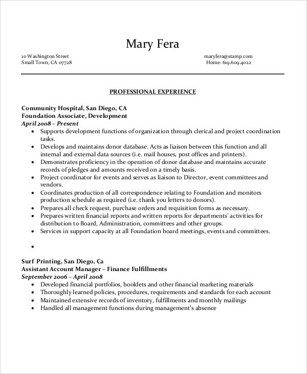 6 sample executive administrative assistant resumes sample templates