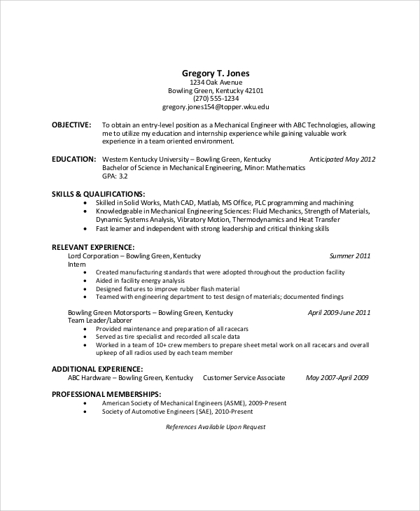 objectives in resumes for students pdf