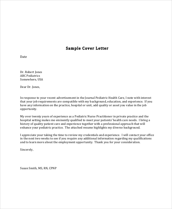 sample cover letter format for experienced nurse in pdf