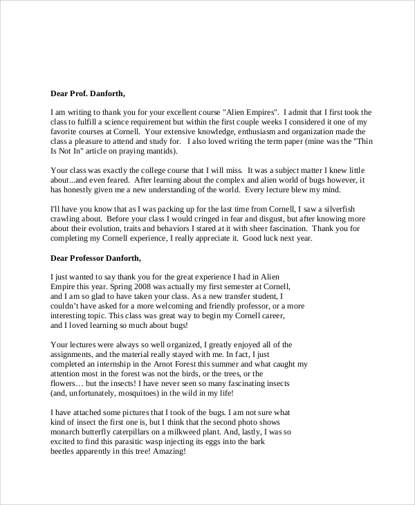 Sample Graduation Thank You Letters 6 Examples In Word Pdf