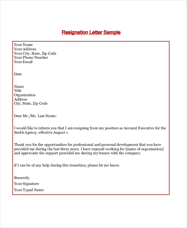 7 sample formal letter layouts sample templates formal resignation letter layout example thecheapjerseys Gallery