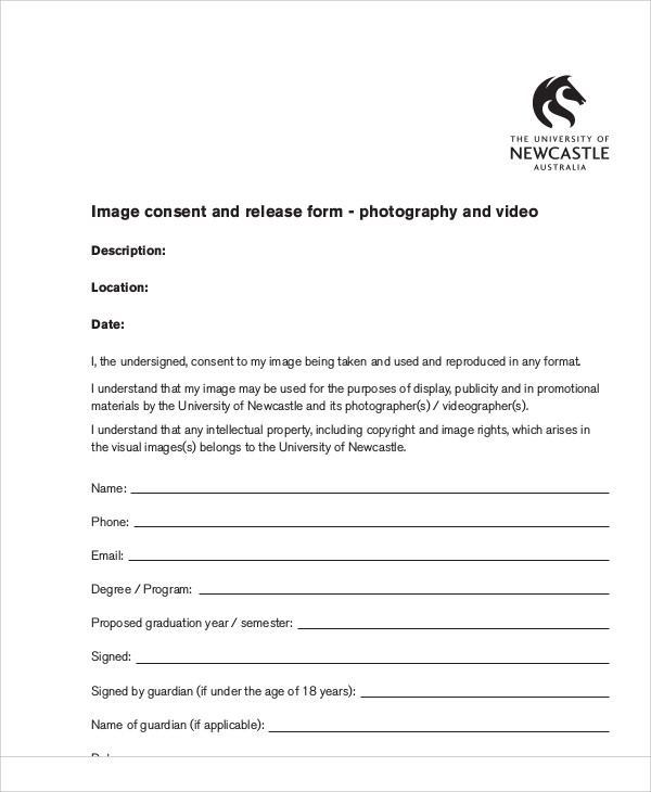 Copyright release form photography five important life for Photography permission form template
