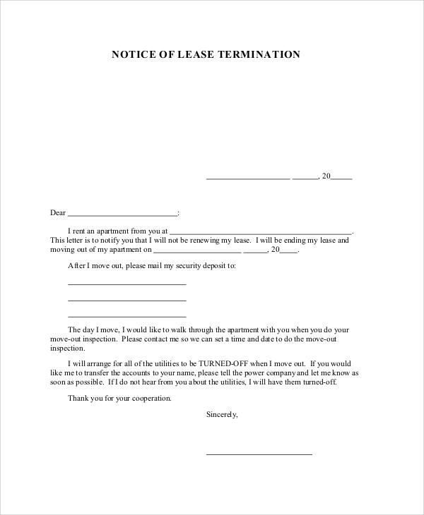 Rent Lease Apartment: 32+ Sample Agreement Letters