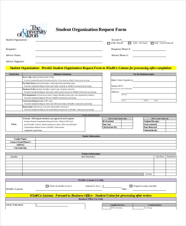 student organization request form1