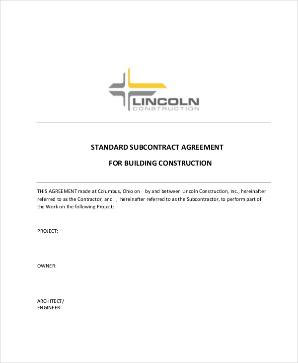 Sample Construction Contract Agreement - 7+ Examples in Word, PDF